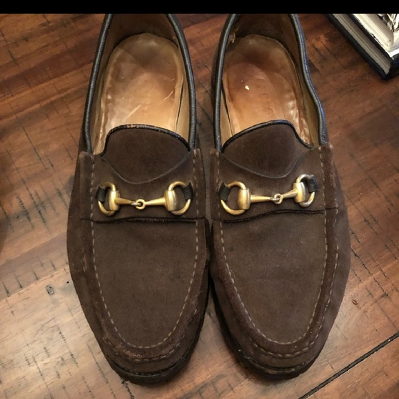 9364eaf6b93eb Gucci Shoes | Vintage Suede Horsebit Loafers With Gold | Poshmark